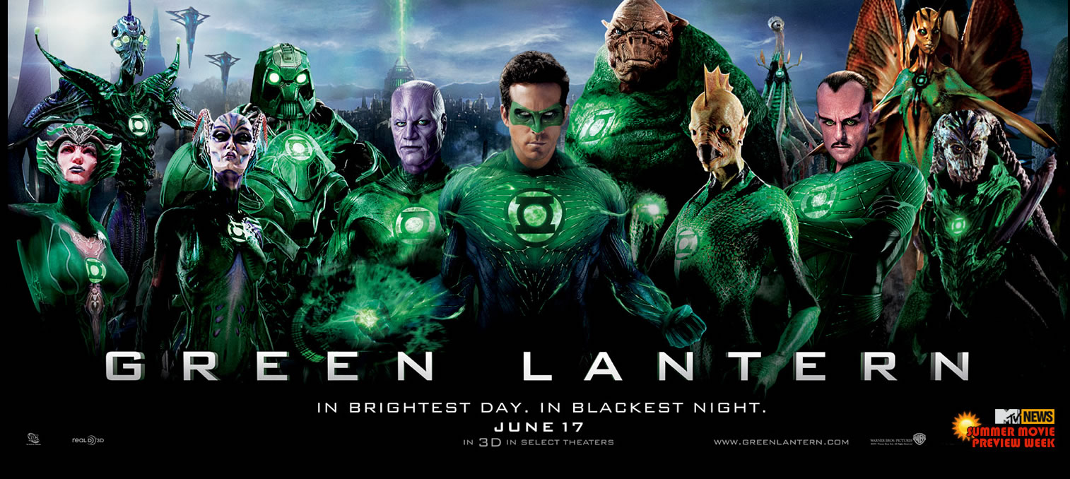 Green Lantern Mega Movie Poster