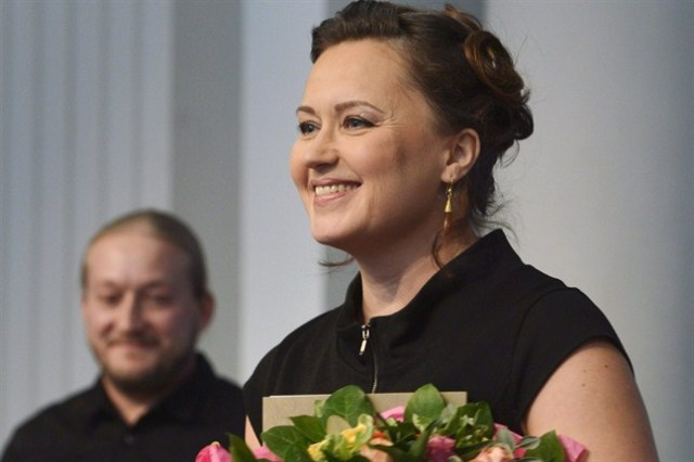 Kreetta Onkeli at the Finlandia Prize Ceremony