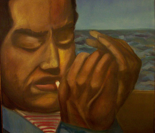 """Langston Hughes"", a painting from the Brooklyn Art Project"