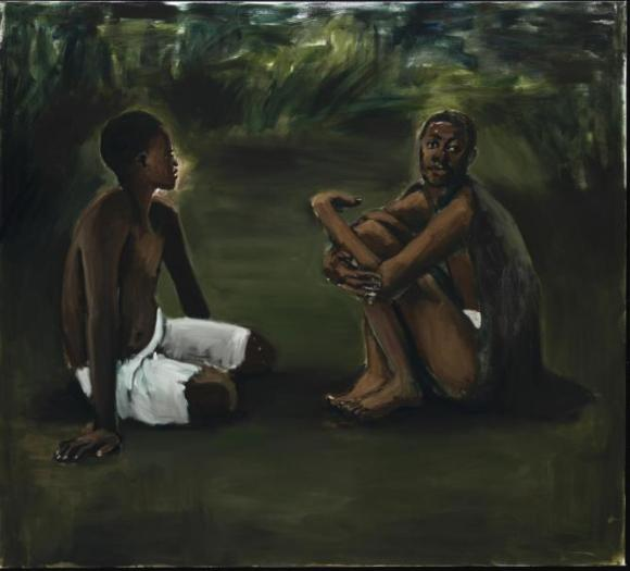 Untitled painting by Lynette Yiadom-Boakye