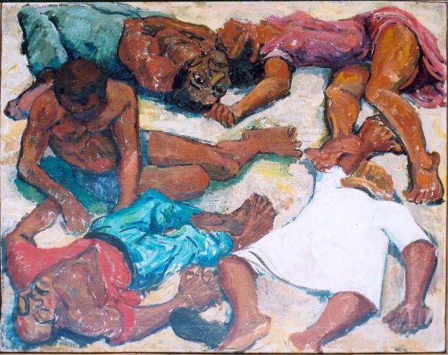"""""""Murder at Sharperville"""" by Godfrey Rubens, 1960"""