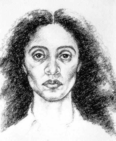 """Self-portrait exaggerating my negroid features"", Adrien Piper (1981)"