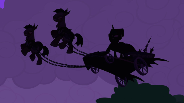 Luna arrives in a scary carriage
