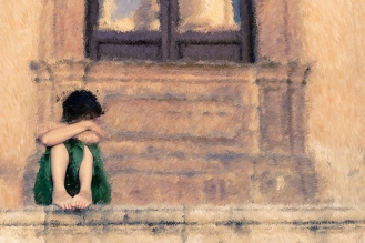 lonely-child-on-steps